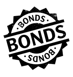 Bonds rubber stamp vector