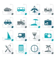 stylized travel transportation tourism vector image