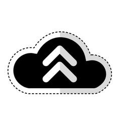 cloud computing with arrow upload isolated icon vector image