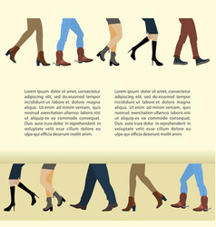 Legs of people vector