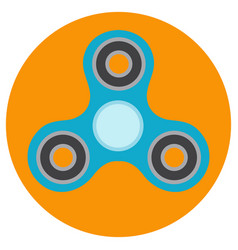 The blue hand-spinner is of classical shape vector