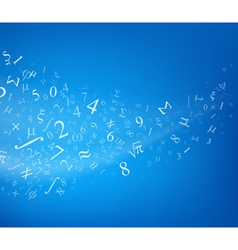 Blue background with numbers vector