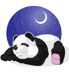 Panda sleeping vector