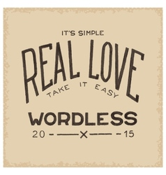 Real love wordless vector