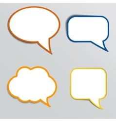 Stickers in form of speech bubbles vector
