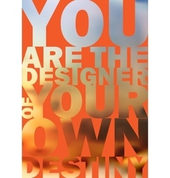 Quote typographical background design vector