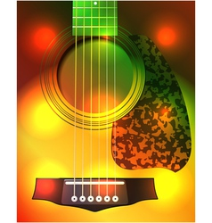 Guitar closeup vector
