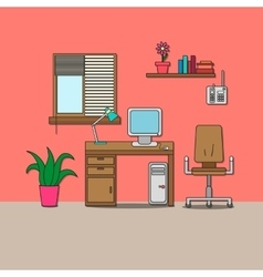 Design of room - cabinet vector
