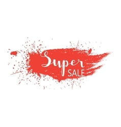 Super sale - hand lettering text vector