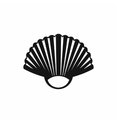 Seashell icon simple style vector