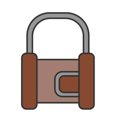 Padlock flat color icon lock object of safety vector