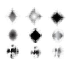 9 circular fades - 2 vector