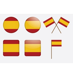 Badges with flag of spain vector