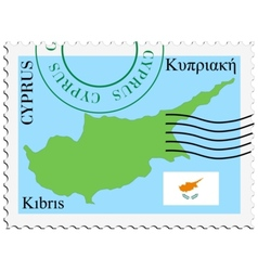 Mail to-from cyprus vector