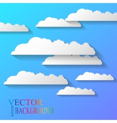 abstract background composed of white paper vector image
