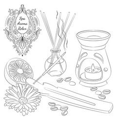 aromatherapy line art vector image