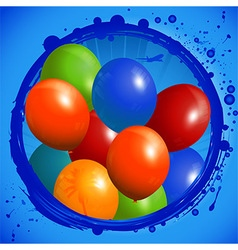 Balloons circle background vector