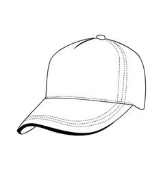 Baseball cap icon image vector