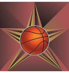 Basketball Ball on Rays Background6 vector image vector image