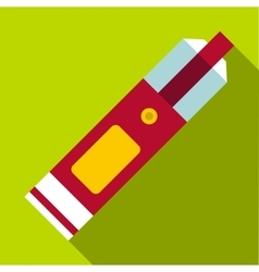Big flashlight icon flat style vector