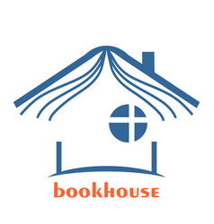 book seller design emblem vector image