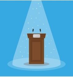 Brown wooden podium tribune rostrum vector image