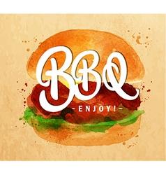 Burger bbq kraft vector