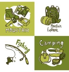 Camping design concept vector