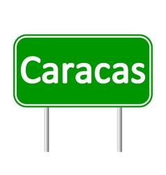 Caracas road sign vector