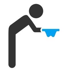 Child beggar icon vector