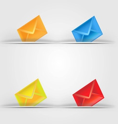 colorful email icon vector image vector image