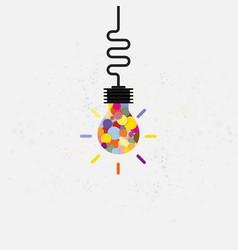 creative bulb light idea abstract design vector image vector image