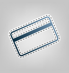 Credit card symbol for download blue icon vector