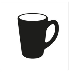 cup icon in simple monochrome style vector image vector image