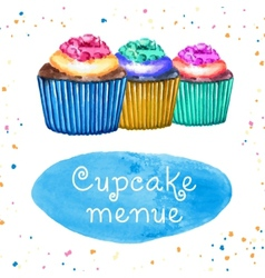 Cupcakes Menue vector image vector image
