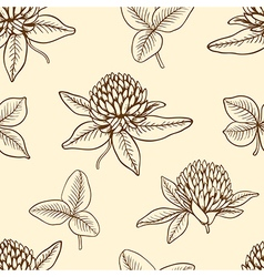 Decorative seamless pattern with clover vector