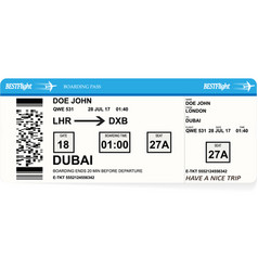 Design of aircraft boarding pass ticket vector
