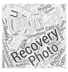 Digital photo recovery word cloud concept vector