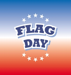 flag day america banner on red and blue background vector image