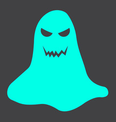ghost glyph icon halloween and scary horror sign vector image