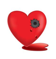 glassy heart vector image