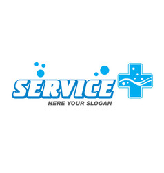 Logo service plus vector