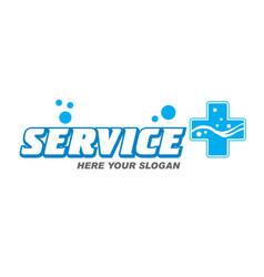 Logo service plus vector