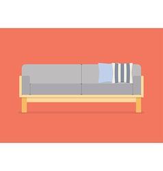 Modern sofa flat style vector image