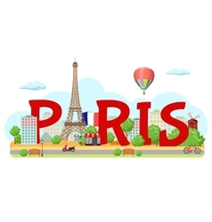Paris City Sign Composition vector image vector image