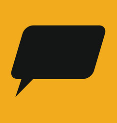 retro converse speech bubble icon vector image