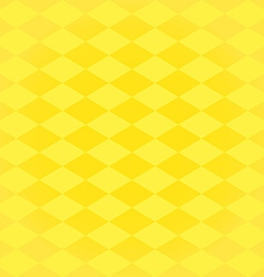 Seamless harlequin pattern-yellow vector image