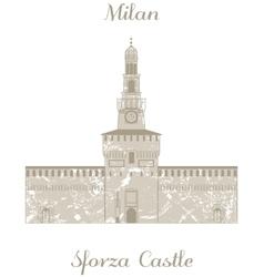 Sforza castle vector