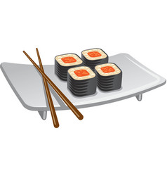 sushi icon vector image vector image