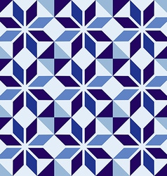 Traditional Portuguese blue mosaic tile pattern vector image vector image